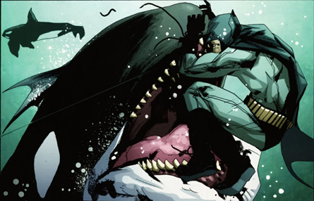 Batman fighting Killer Wale
