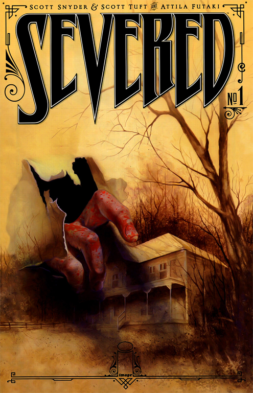 The cover to Severed #1, with art by Attila Futaki, published by Image comics.